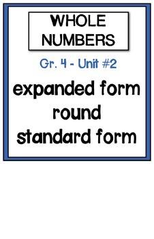 Math Vocabulary Posters - Grade 4 Math Makes Sense