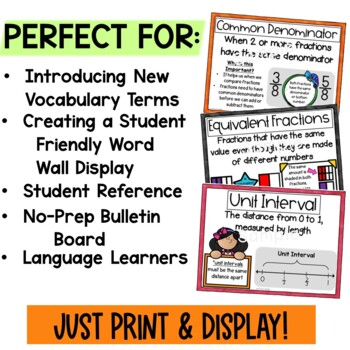 Engage New York Math Vocabulary Posters- Module 5 4th Grade