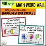 Math Word Wall 4th Grade- Engage NY Module 5