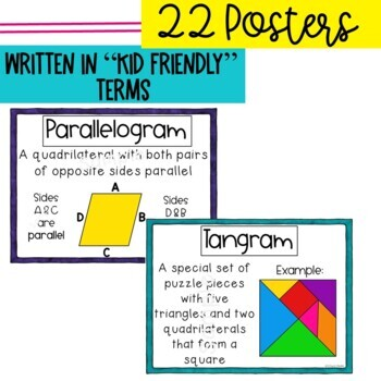 Engage New York 3rd grade Math Vocabulary Posters- Module 7