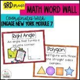 Math Word Wall Posters for Geometry Grade 3 Module 7 Engage New York
