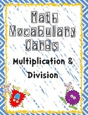 Math Vocabulary Posters - Multiplication & Division