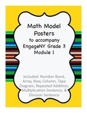 Math Vocabulary Posters To accompany EngageNY/Eureka Math Grade 3 Module 1