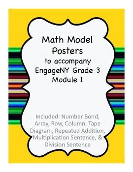 Math Vocabulary Posters To accompany EngageNY/Eureka Math Grade 3 Module 1