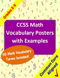 Math Vocabulary Posters With Example Illustrations for Grades 2-5