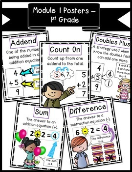 Math Vocabulary Posters for Engage New York First Grade Module 1