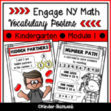 Math Vocabulary Posters for Engage New York Kindergarten, Module 1