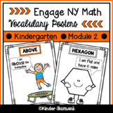 Math Vocabulary Posters for Engage New York Kindergarten, Module 2