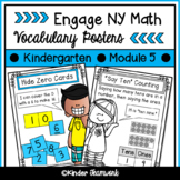 Math Vocabulary Posters for Engage New York Kindergarten, Module 5