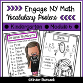 Math Vocabulary Posters for Engage New York Kindergarten, Module 6