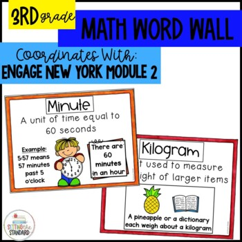 Math Vocabulary Posters for Engage New York Module 2