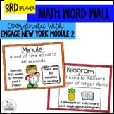 Math Word Wall Posters Grade 3 Module 2 Engage New York