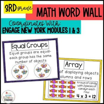 Engage New York Math Vocabulary Posters for Multiplication & Division Mod. 1 & 3