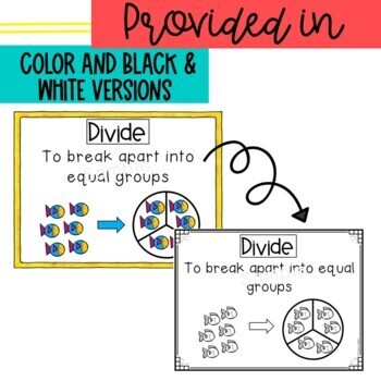 Math Word Wall Posters Modules 1 & 3 Engage New York multiplication & division