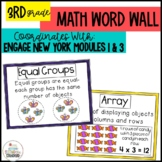 Math Word Wall Posters Module 1 | 3 Engage New York