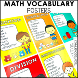 Math Vocabulary Posters for problem solving words
