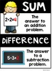 Math Vocabulary Posters for the K-2 Classroom {EDITABLE}