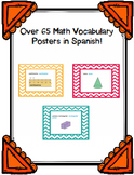 Math Vocabulary Posters in Spanish - over 65!