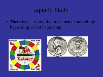 Math Vocabulary Power Point/ Words Related to Probability