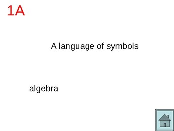 Math Vocabulary PowerPoint