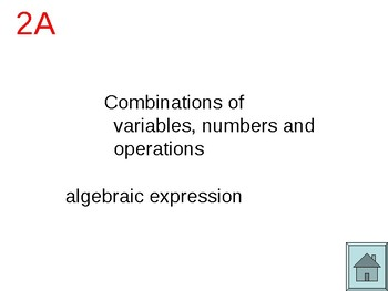 Math Vocabulary in L to J PowerPoint