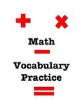 Math Vocabulary Practice