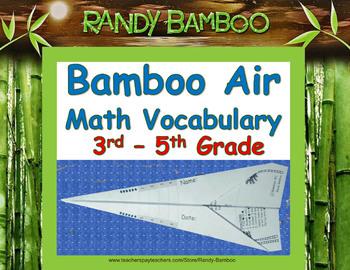 Math Vocabulary Practice - Foldable Plane!