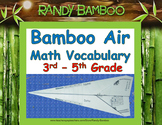 Math Vocabulary Practice - Foldable Plane!
