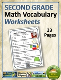 Math Vocabulary Activity Worksheets 2nd Grade