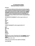 Math Vocabulary Project