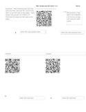 Math Vocabulary QR Code Scavenger Hunt Activity Game