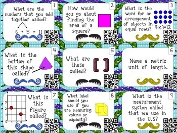 Vocabulary Practice: Math with QR Codes