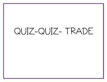 Math Vocabulary Quiz Quiz Trade