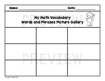 Math Vocabulary (Read, Trace, Write)