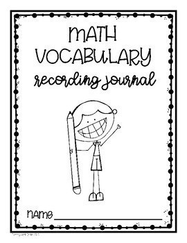 Math Vocabulary Recording Journal (Kindergarten)