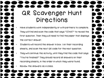 Math Vocab Scoot Game/QR Scavenger Hunt