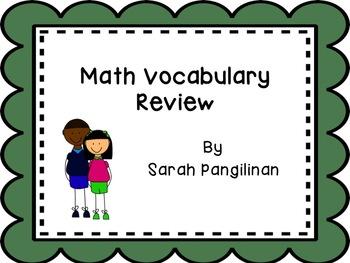 Math Vocab Scoot Game/QR Scavenger Hunt