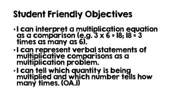 Math Vocabulary Review Fourth Grade OA Standards