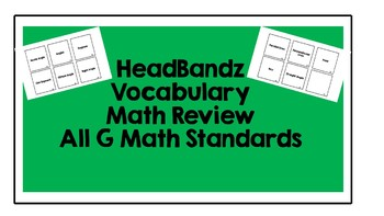 Math Vocabulary Review Game Fourth Grade Geometry Standards