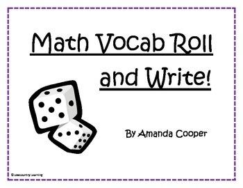 Math Vocabulary Roll and Write