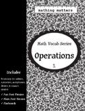 Math Vocab 1: Operations