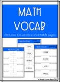 Math Vocabulary Sheets (Editable)