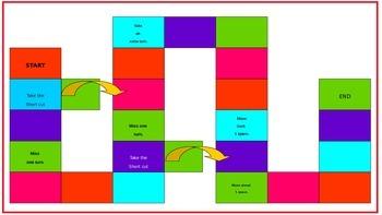 Math Vocabulary Station Game