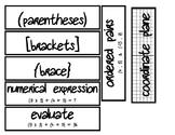 Math Vocabulary Strips #1
