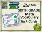 Math Vocabulary Activity Cards 6th Grade