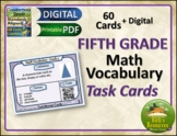 Math Vocabulary Activity Cards 5th Grade