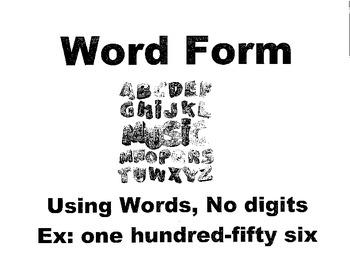 Math Vocabulary Terms (125)