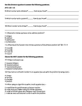 Math Vocabulary Test MJ