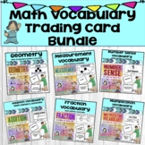 Math Vocabulary Trading Card Bundle