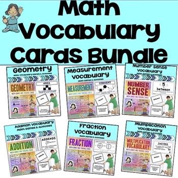 Math Vocabulary Trading Card Bundle